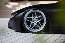 Bmw I8 Tuning - matte black bmw i8 on vossen lc 104 wheels