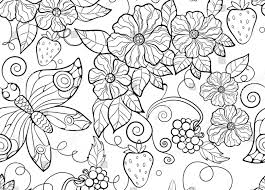 flowers and butterflies coloring page free printable pages