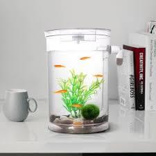 self cleaning plastic fish tank desktop aquarium betta fishbowl