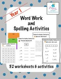 word work and spelling activities year 1 by pizazz teaching resources