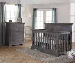 pali ragusa 2 piece nursery set in distressed granite crib and 5