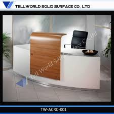 Small Salon Reception Desk by High Standard Acrylic Solid Surface Office Furniture Office