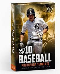 september baseball bundle photography photoshop template