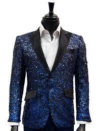 casual blazer angelino blue black sequin satin lapel trendy dress