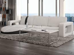 canapé blanc d angle canapé d angle réversible en simili talita 3 coloris