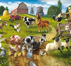 farmyard fun wall mural kids wall stickers