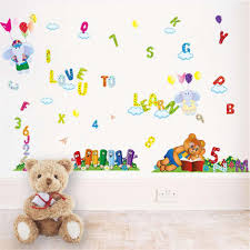 removable vinyl alphabet numbers bear wall stickers muraux hot removable vinyl alphabet numbers bear wall stickers muraux hot sells wall decal poster home decorations diy pvc removable wallpaper painting quote wall