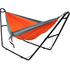 Hammock Stands Sunnydaze Double Nylon Lightweight Parachute Hammock Stand Set