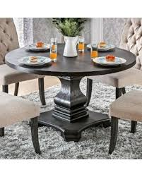 black pedestal dining table amazing deal on furniture of america lucena traditional farmhouse