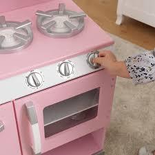 Pottery Barn Pro Chef Play Kitchen Kidkraft Pink Retro Kitchen U0026 Refrigerator Walmart Com