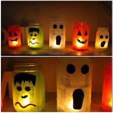 halloween candle jars crafts red freckled momster