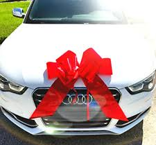 big bow for car present large gift bow big ribbon magnetic wrap car appliance present