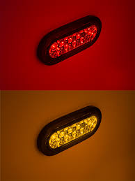 oval led truck lights and trailer lights with clear lens 6 led