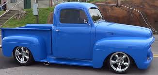 truck ford blue 1952 ford f1 street truck youtube