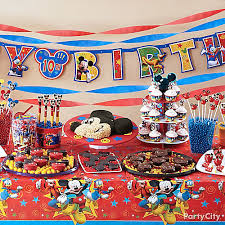 mickey mouse treats table idea party city