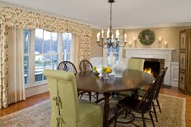 chic parsons chairs in dining room traditional with chair covers