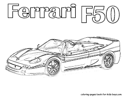 ferrari car coloring pages pictures of ferrari sports cars