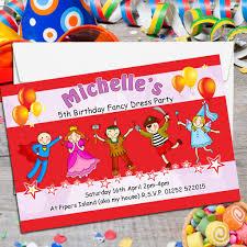 dress invitations 10 personalised fancy dress birthday party invitations n119