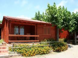 wooden bungalow on a small peaceful homeaway cambrils