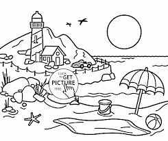lighthouse coloring page for kids seasons coloring pages