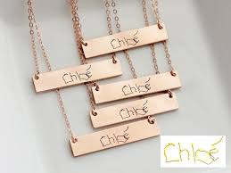 custom handwriting necklace child s handwriting necklace custom handwriting