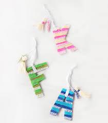 stripe alphabet diy ornaments craft paper scissors