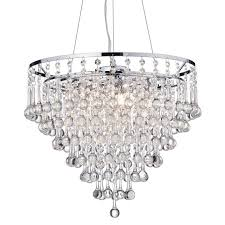 Cascading Chandelier by Kailee 5 Light Cascading Crystal Chandelier Chrome Finish Ceiling