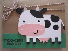 Cow Birthday Card Cow Card Black And White Cow Card Farm Animal Card Kids