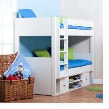 White Wooden Bunkbeds With Storage From Stompa - Kids wooden bunk beds