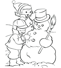 coloring pages coloring pages snowman pictures winter coloring