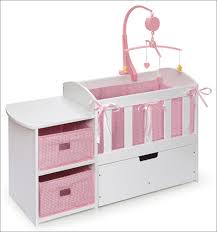 badger basket doll crib with storage dresser and trundle drawer