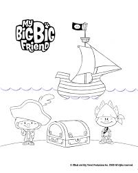 big big friend pirates colouring treehouse