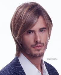 sleek long hairstyle for a young man