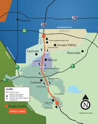 Map Of Riverside County I 15 Express Lanes Info A Project Of The Riverside County