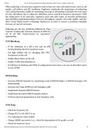 Ericsson Rf Engineer 2 G And 3g Kpi Improvement By Parameter Optimization Nsn Ericsson U2026
