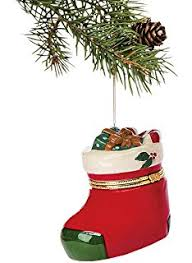 porcelain tree hinged ornament box santa