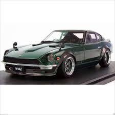datsun nissan z ignition model 1 18 nissan datsun fairlady z car s30 green ig0688