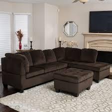 silver tufted sofa amazon com welsh chocolate fabric sectional sofa set kitchen