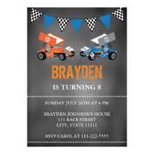race car birthday invitations u0026 announcements zazzle