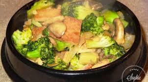 cuisiner les brocolis tofu frit aux brocolis et chignons la tendresse en cuisine