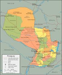 parana river map paraguay map and satellite image