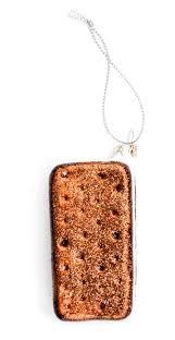 sandwich ornament in glass