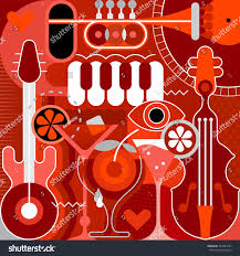music festival concert cocktail party vector stock vector