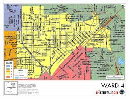 Carroll Community College Map Ward Maps City Of Hattiesburg