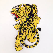 bengal tiger style iron on embroidered back patch