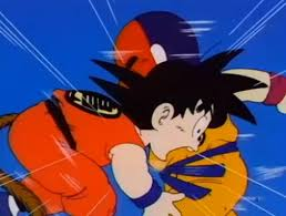 image kid goku punched stomach png dragon ball
