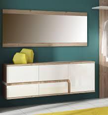 schuhschrank design shop garderobe set schuhschrank spiegel 2 teilig eiche nelson weiß