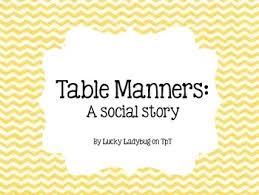 table manners social story by lucky ladybug teachers pay teachers