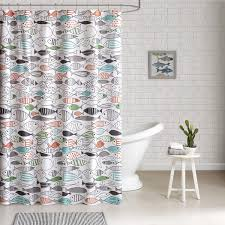 Unique Bathroom Shower Curtains Hipstyle Madfish Cotton Printed Shower Curtain Free Shipping On