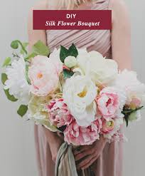 Diy Flower Arrangements Diy Silk Flower Bouquet With Afloral Green Wedding Shoes
